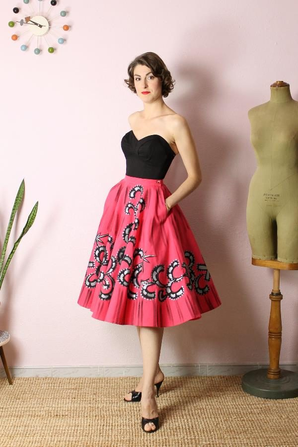 Mexican Handpainted skirt2